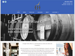 Eagle Harbor Winery Co. by HawkFeather Web Design