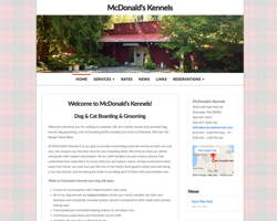 McDonalds Kennels by HawkFeather Web Design
