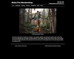 Niclas Fine Woodworking by HawkFeather Web Designb