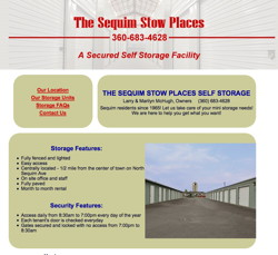 Sequim Stow Places by HawkFeather Web Design