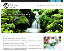 Kitsap Environmental Coalition by HawkFeather Web Design