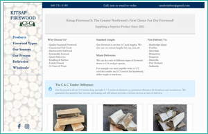 Kitsap Firewood by HawkFeather Web Design