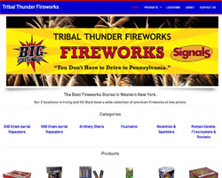 Tribal Thunder Fireworks by HawkFeather Web Design